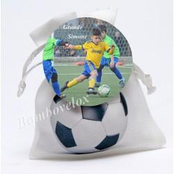 Sacchetto simbolo pallone con calamita da personalizzare tonda