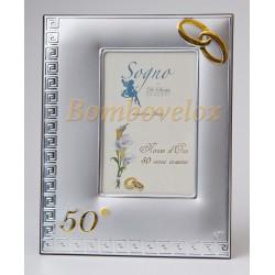 Portafoto argento 50 anni di matrimonio